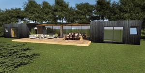La Villa Aubagne Inergeen. C'est un concept d'extension de surface, à mi-chemin entre container et villa traditionnelle