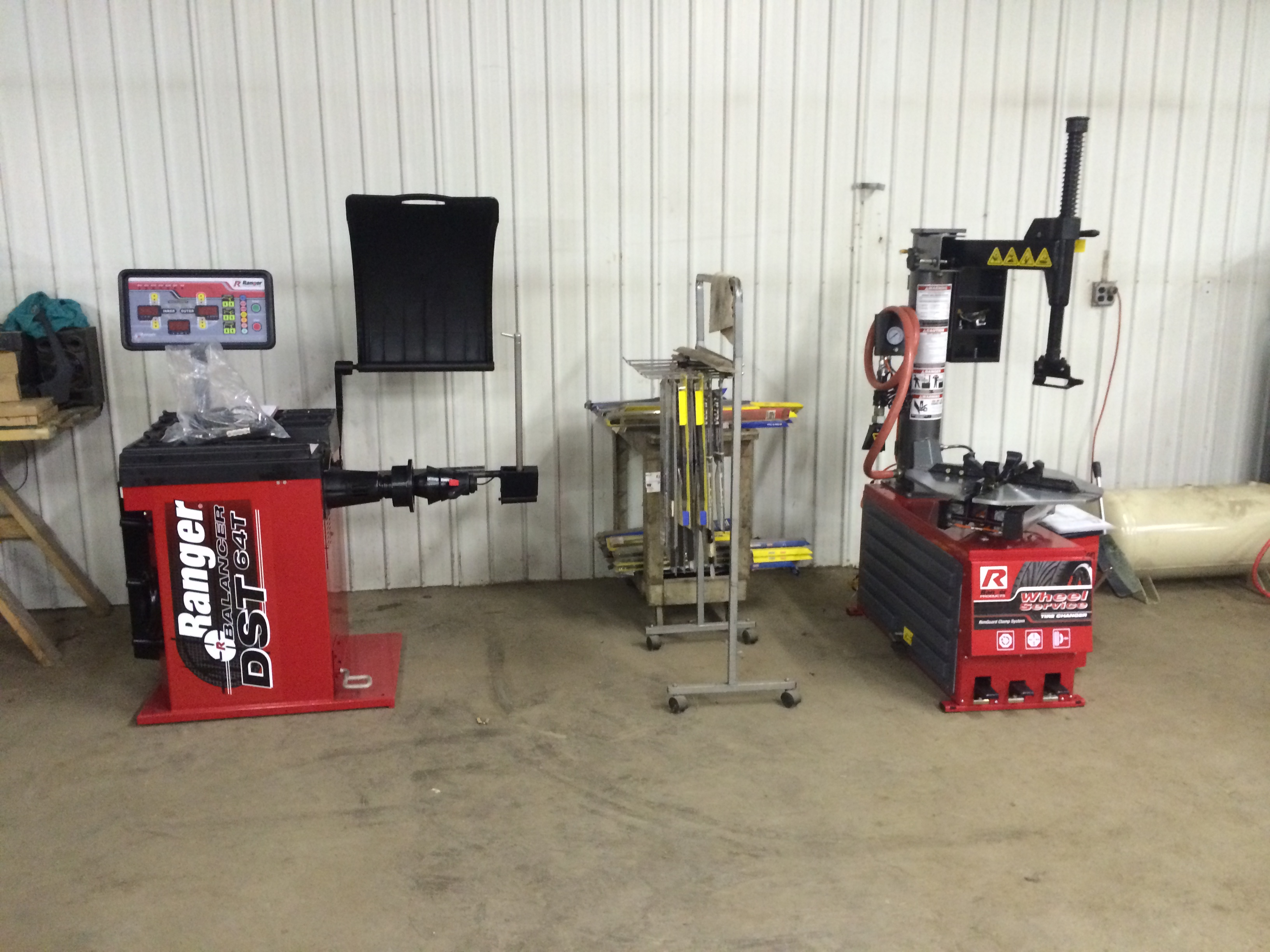 Our New Tire Equipment