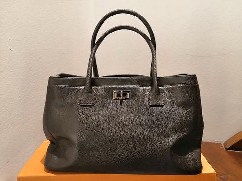 Chanel - Borsa Shopping in pelle marrone