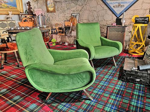 Poltrone verdi anni '50