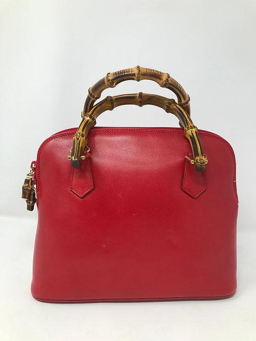 Gucci - Borsa in pelle rossa vintage