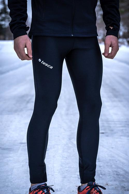Le legging revers polaire Blue-black