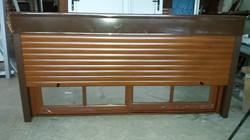 Cortina de aluminio imitacion madera