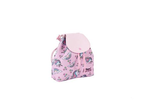 Mochila Unicórnio Rosa Glitter Menina Criança Infantil