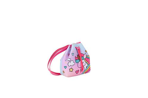 Bolsa Bucket Unicórnio Glitter Menina Criança Infantil