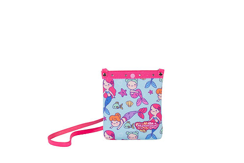 Bolsa Shopper Sereia Glitter Menina Criança Infantil