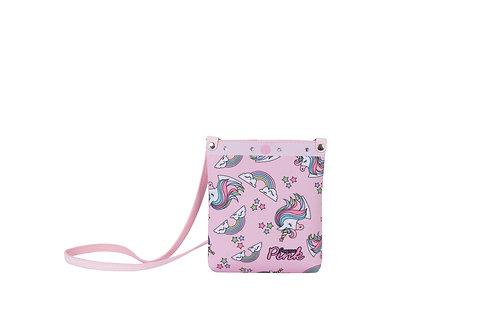 Bolsa Shopper Unicórnio Rosa Glitter Menina Criança Infantil
