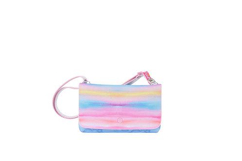 Bolsa Carteira Tie Dye Glitter Menina Criança Princesa Pink