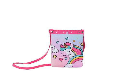Bolsa Shopper Unicórnio Glitter Menina Criança Infantil