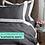 Thumbnail: Отельное постельное белье Megan, цвет графит с белой  полосой