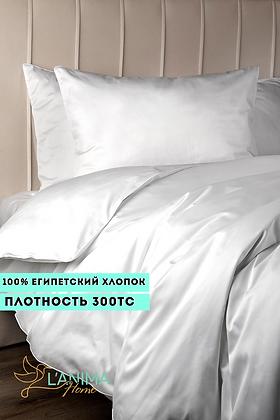 Комплект постельного белья Белый Премиум Сатин