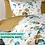 Thumbnail: Комплект постельного белья Бабочки в голубых листьях
