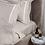 Thumbnail: Отельное постельное белье Rico, бежевое с белыми полосами