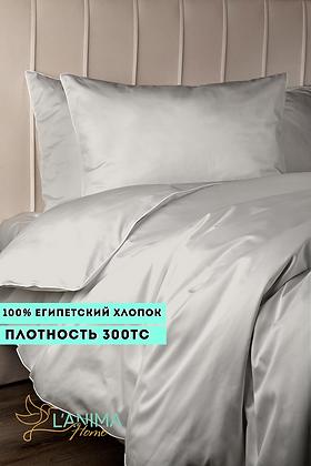 Комплект постельного белья Припыленный светлый беж Премиум Сатин