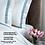 Thumbnail: Отельное постельное белье Simple, цвет белый с бирюзовой  полосой