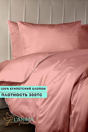 Комплект постельного белья Клубничный Премиум Сатин