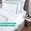 Thumbnail: Отельное постельное белье Rico, с бирюзовыми полосами