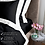 Thumbnail: Отельное постельное белье Megan, черное с белой  полосой