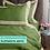 Thumbnail: Отельное постельное белье Megan, травяное с белой  полосой
