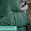 Thumbnail: Однотонное постельное белье из тенселя, цвет изумрудный