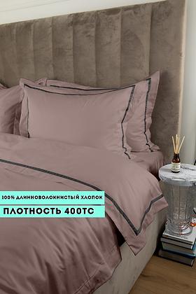Отельное постельное белье Simple, цвет пудра