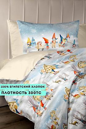 Комплект постельного белья Зимние гномы