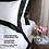 Thumbnail: Отельное постельное белье Megan, белое с черной полосой