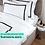 Thumbnail: Отельное постельное белье Rico с черными полосами