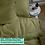 Thumbnail: Однотонное постельное белье из тенселя, цвет олива