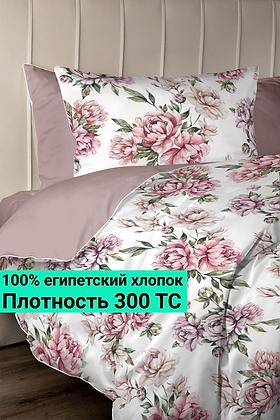 Комплект постельного белья Акварельные цветы пудры