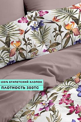 Комплект постельного белья Яркий цветочный принт