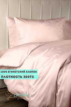 Комплект постельного белья Розовый Премиум Сатин