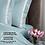 Thumbnail: Отельное постельное белье Santanta,цвет бирюзовый с белыми полосами