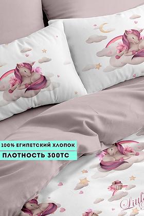 Комплект постельного белья Единорог с пончиком