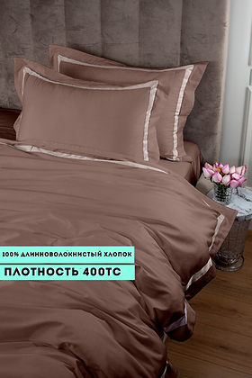 Отельное постельное белье Santanta, цвет темный беж с полосами