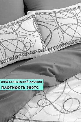 Комплект постельного белья Цепи(серебро)