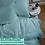 Thumbnail: Однотонное постельное белье из тенселя, цвет тиффани