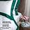 Thumbnail: Отельное постельное белье Megan, белое с изумрудной полосой