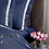 Thumbnail: Отельное постельное белье Santanta, цвет синий с белыми полосами