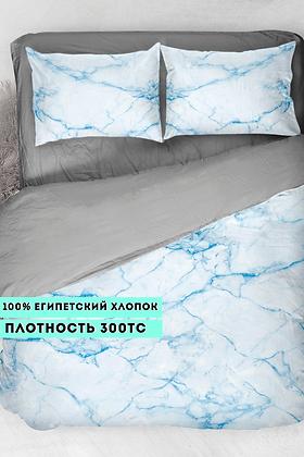 Комплект постельного белья Голубой мрамор