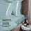 Thumbnail: Отельное постельное белье Rico, бирюзовое с белыми полосами