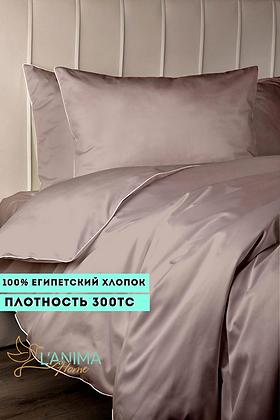 Комплект постельного белья Пудра Премиум Сатин