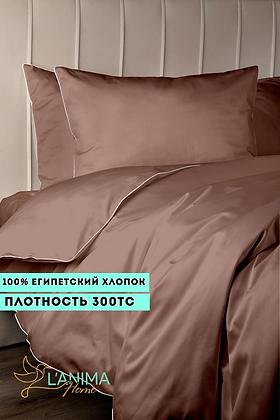 Комплект постельного белья Бронзовый Премиум Сатин