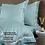 Thumbnail: Отельное постельное белье Simple, бирюзовое с белой полосой