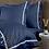 Thumbnail: Отельное постельное белье Simple,синее с белой  полосой