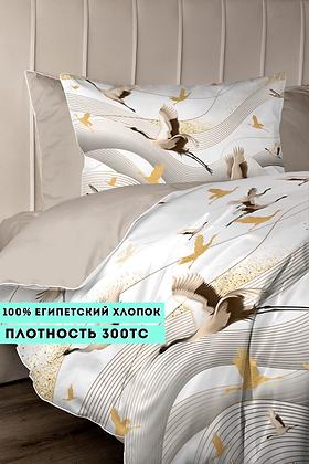 Комплект постельного белья Золотые журавли
