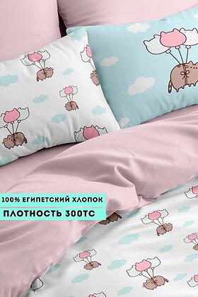 Комплект постельного белья Котики на шаре