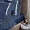 Thumbnail: Отельное постельное белье Rico, синий с  белыми полосами