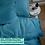 Thumbnail: Однотонное постельное белье из тенселя, цвет бирюзовый