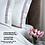 Thumbnail: Отельное постельное белье Simple, цвет белый с пудровой полосой